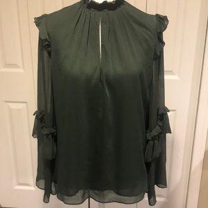 Zara NWOT Bell Sleeve Blouse!